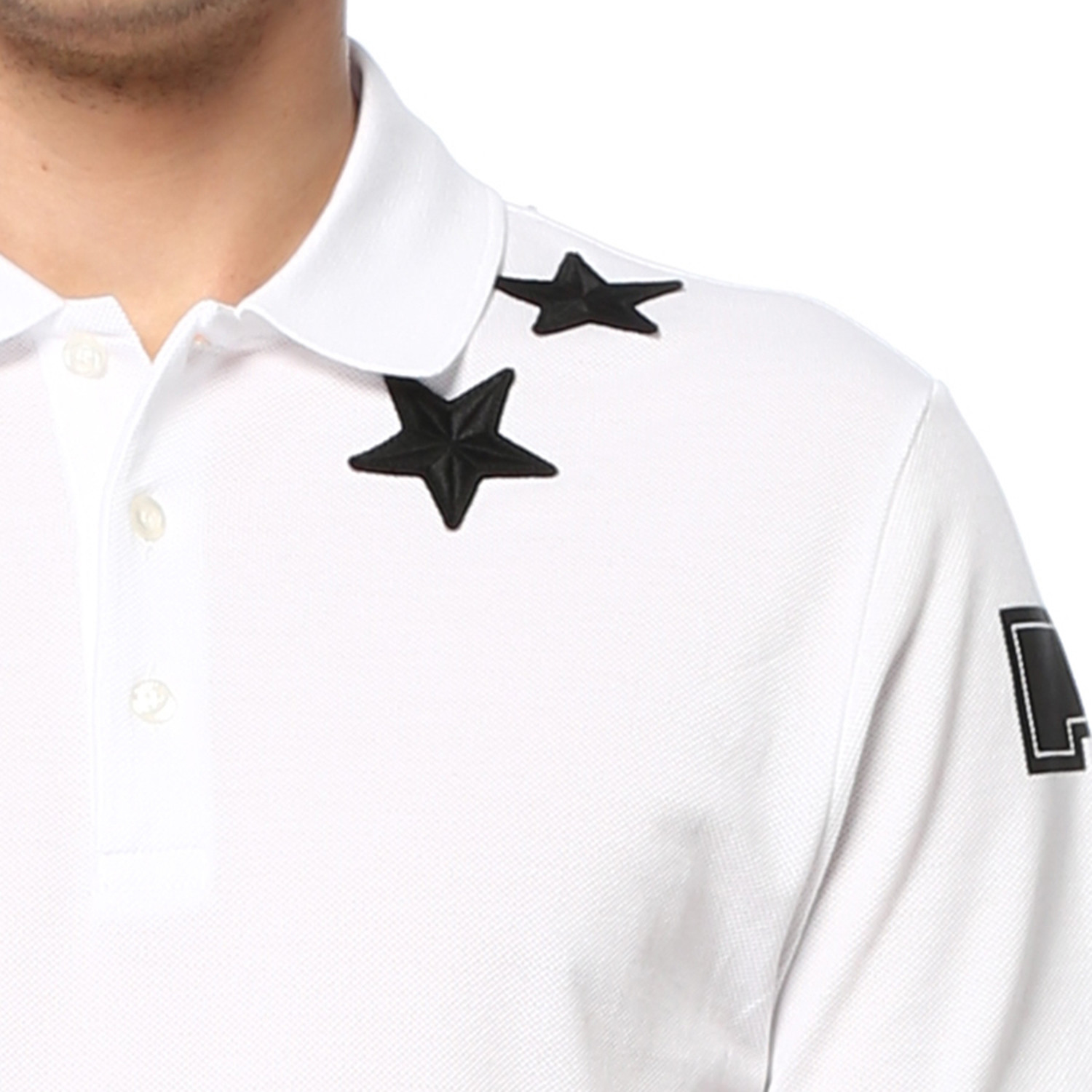 872984f6 Givenchy Stars and 74 Details Polo // White (XL) - Kenzo, Givenchy ...