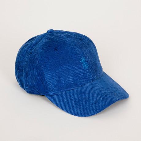 Pineapple Corduroy Dad Hat // Cobalt