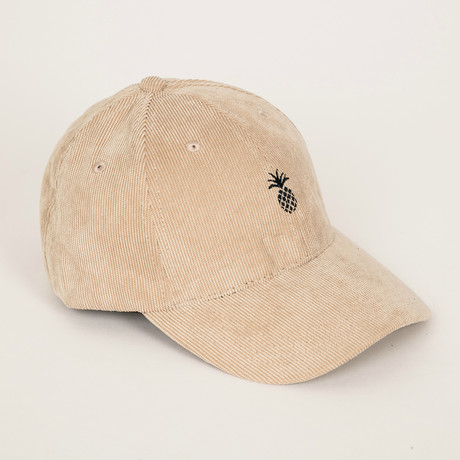 Pineapple Corduroy Dad Hat // Cream