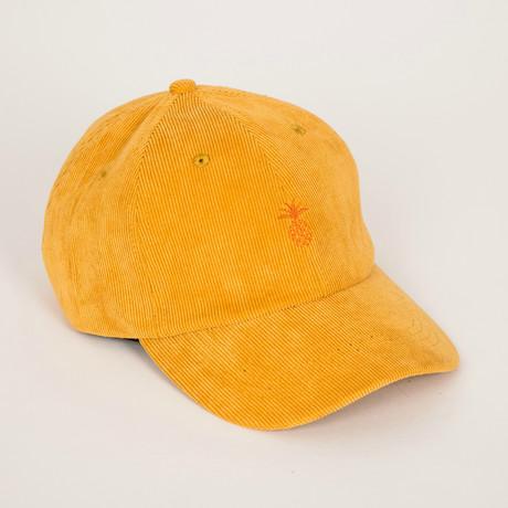 Pineapple Corduroy Dad Hat // Mustard