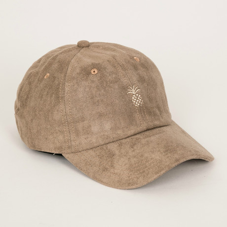 Pineapple Suede Dad Hat // Desert