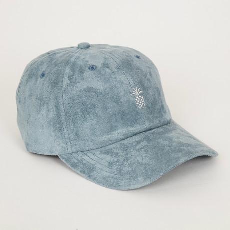 Pineapple Suede Dad Hat // Steel Blue