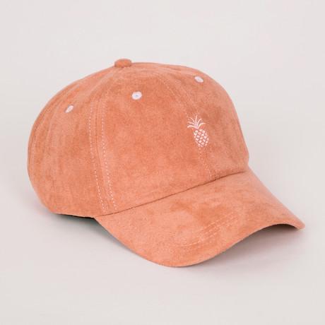 Pineapple Suede Dad Hat // Sandstone