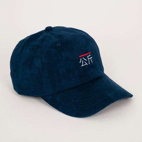 Qilogram Suede Dad Hat // Navy