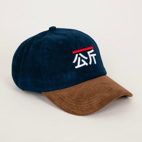 Qilogram Dad Hat // Navy Suede + Corduroy
