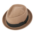 Jacques Grosgrain Diamond Hat // Beige (L)