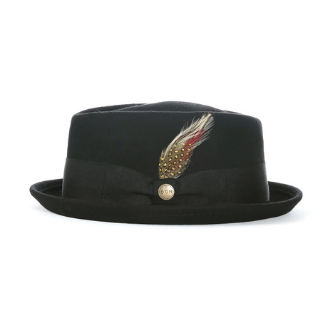 Jacques Grosgrain Diamond Hat // Black (L)