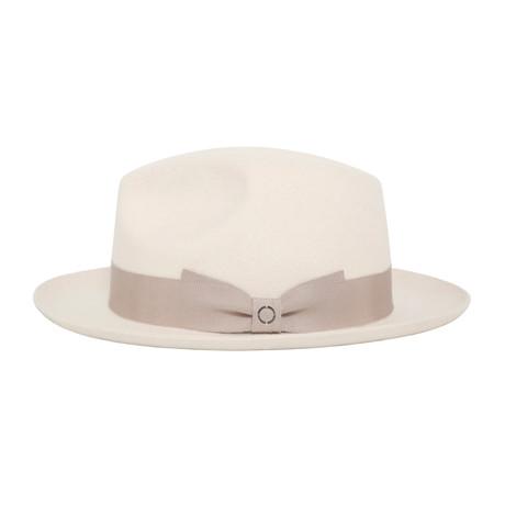 Leon Grosgrain Hat // White