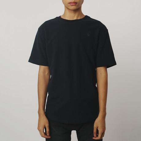 Reverse Terry T-Shirt // Navy (S)