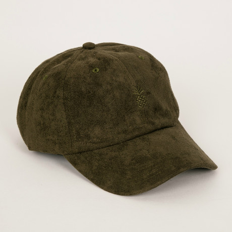 Pineapple Suede Cap // Olive