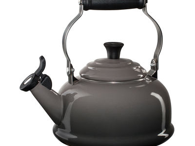 Le Creuset Cast Iron Cookware Whistling Tea Kettle (Marine)
