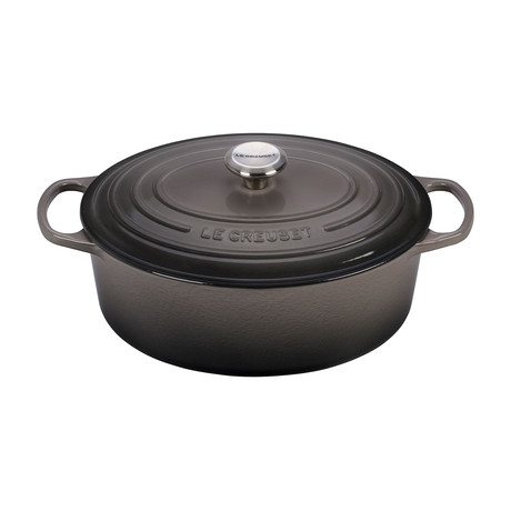 Signature Oval Dutch Oven // 6.75 qt // Oyster