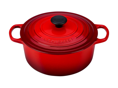 Le Creuset Cast Iron Cookware Signature Round Dutch Oven // 5.5 qt (Marine)