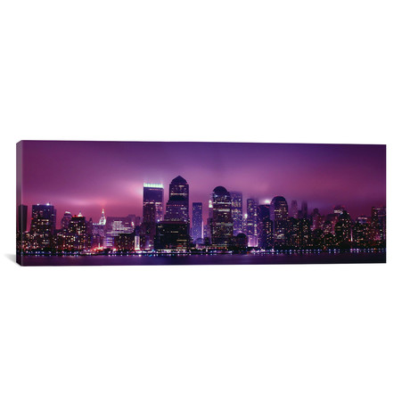 "New York Panoramic Skyline (36""H x 12""W x 0.75""D)"