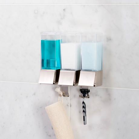 Linea Luxury Triple Soap Dispenser