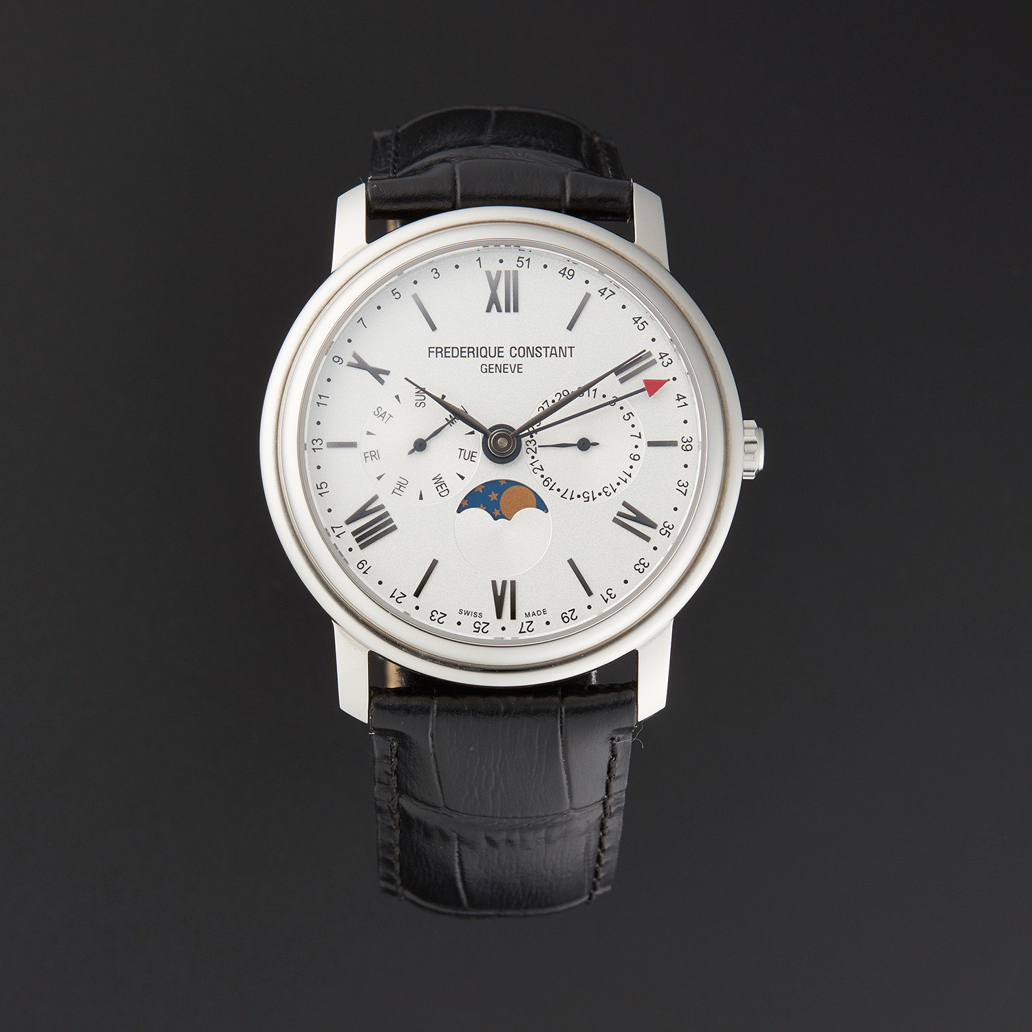 Frederique Constant Q Moonphase Quartz // FC-270SW4P6 // Store Display