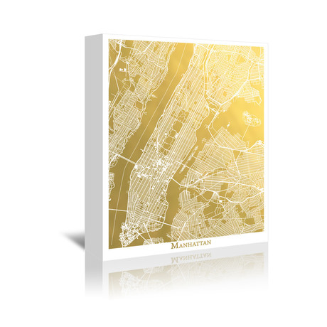 The gold foil map company metallic maps of world class cities manhattan 5w x gumiabroncs Gallery