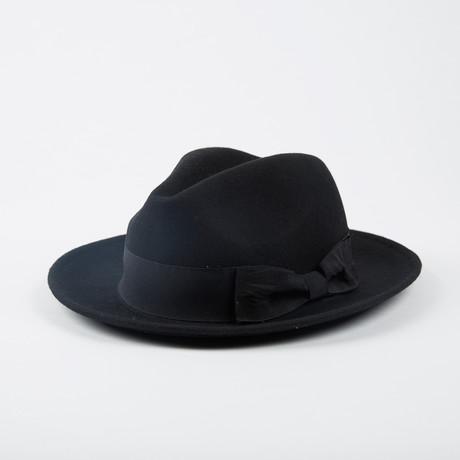 Wool Felt Panama // Black (M/L)