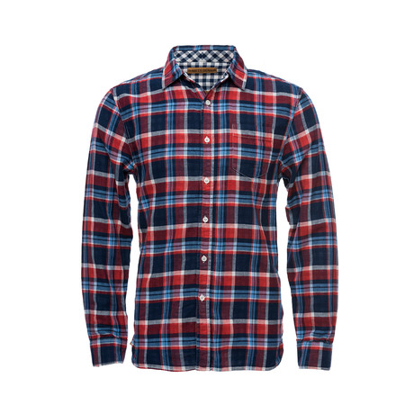 Truman One Pocket Shirt // Red Plaid (XS)