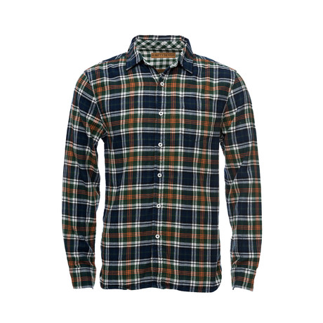 Truman One Pocket Shirt // Green + Orange Plaid (XS)