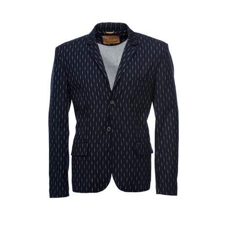 Kurt Notched Lapel Wool Blazer // Navy (XS)