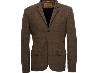 Photo of Nifty Genius Elevated Essentials Kurt Notched Lapel Blazer // Brown (XS) by Touch Of Modern