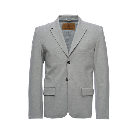 F. Scott Peaked Lapel Stretch Blazer // Light Gray (XS)