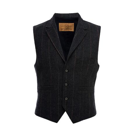 Cooper Vest Shirt // Charcoal (XS)