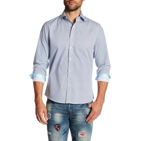 Solid Long-Sleeve Button-Up Shirt // Light Blue