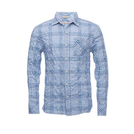 Truman Seersucker Square Pocket Shirt // Blue (XS)