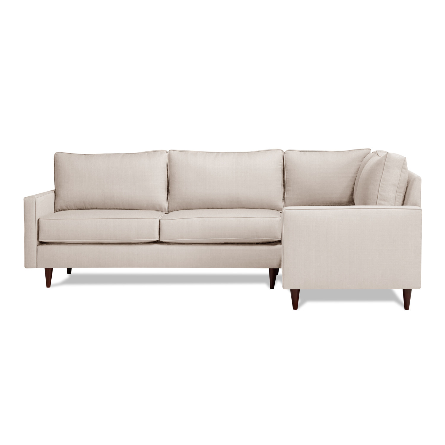 Cone Leg Right Facing Cadence Sectional Dolphin Gray