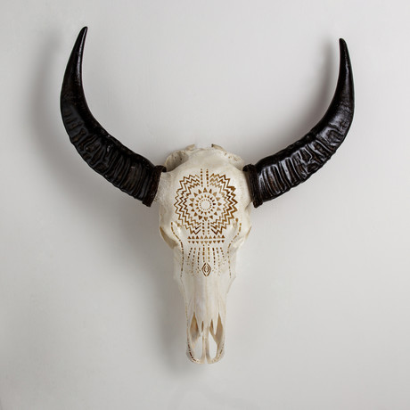 Carved Buffalo Skull // Aztec Affair