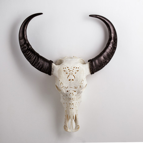 Carved Buffalo Skull // From Hell