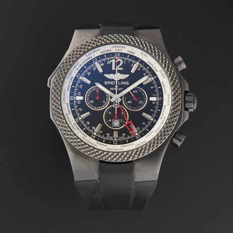 Breitling Bentley GMT Midnight Carbon Automatic // M47362 // Pre-Owned