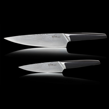 Acutus Damascus // Chef Knife // 2 Piece Set