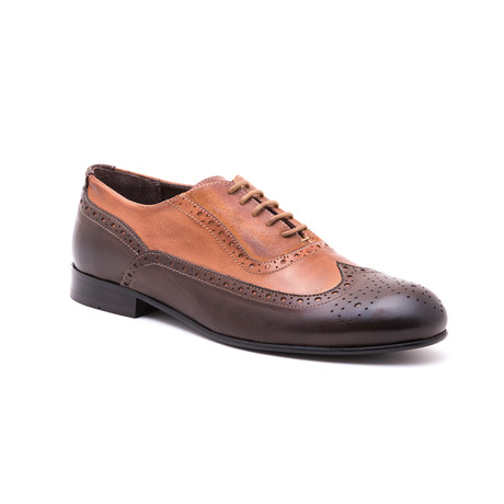 Two-Tone Medallion Brogue // Brown + Tobacco (Euro: 39)