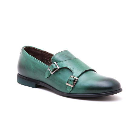 Double Strap Loafer // Pine Green (Euro: 39)