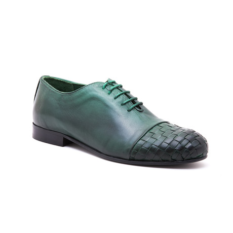 Woven-Toe Oxford // Pine Green (Euro: 39)