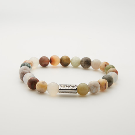 Quartz + Flower Agate Bracelet // Multicolor