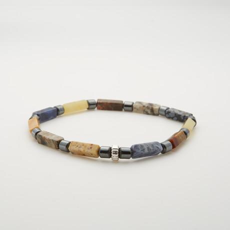 Agate + Jasper + Hematite Bracelet // Multicolor
