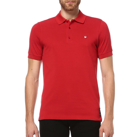 Short Sleeve Polo Shirt // Berry (S)