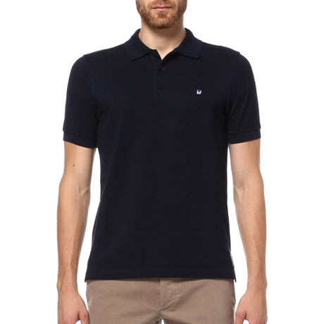 Short Sleeve Polo Shirt // Night Blue (S)
