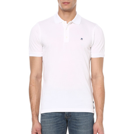 Short Sleeve Polo Shirt // White (S)