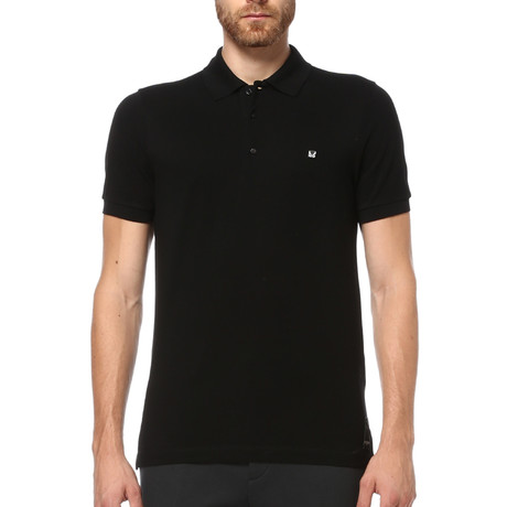 Short Sleeve Polo Shirt // Black (S)