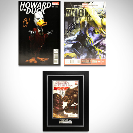 Signed Comics // Guardians of the Galaxy, Thanos & Howard the Duck // Set of 3