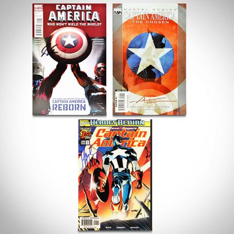Signed Comics // Captain America // Set of 3