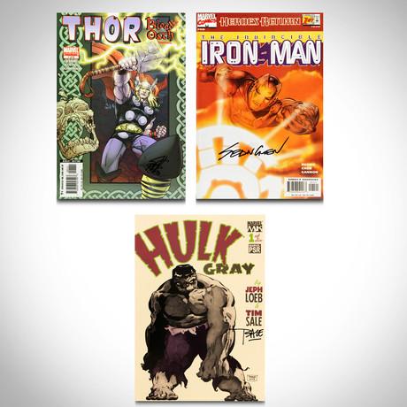 Signed Comics // Ironman, Hulk & Thor // Set of 3