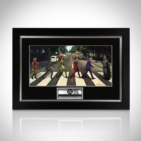Signed Comic Art // DC Abbey Road // Custom Frame