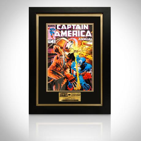 Signed Comic Art // Captain America & Wolverine // Custom Frame