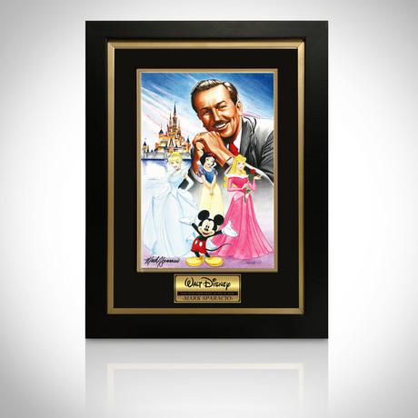 Signed Comic Art // Walt Disney // Custom Frame